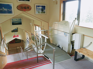 Stairlift for wheelchairs